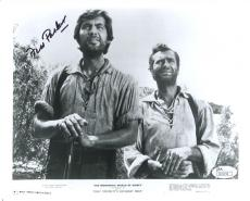 FESS PARKER HAND SIGNED 8x10 PHOTO+JSA      RARE WITH BUDDY EBSEN  DAVY CROCKETT