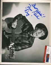 Fess Parker Psa/dna Hand Signed 8x10 Photo Authentic Autograph