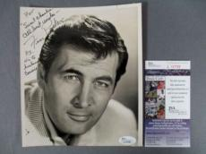 Fess Parker Signed 8x10 Photo Davy Crockett Daniel Boone JSA COA