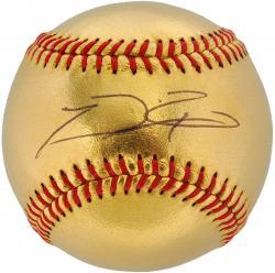 Prince Fielder Texas Rangers Autographed 24 Karat Gold Baseball