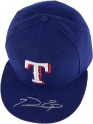 FIELDER, PRINCE AUTO (RANGERS/BLUE) CAP - Mounted Memories