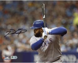 "Prince Fielder Texas Rangers Autographed 8"" x 10"" Horizontal Grey Uniform Photograph"
