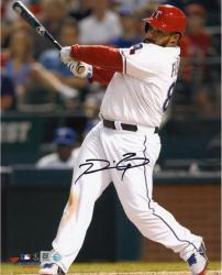 Prince Fielder Texas Rangers Autographed 8'' x 10'' Vertical White Uniform Photograph - Mounted Memories