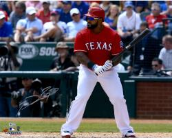 Prince Fielder Texas Rangers Autographed 16'' x 20'' Pre-Swing Photograph - Mounted Memories