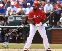 "Prince Fielder Texas Rangers Autographed 8"" x 10"" Pre-Swing Photograph"