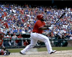 "Prince Fielder Texas Rangers Autographed 16"" x 20"" Swinging Photograph"