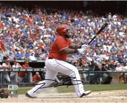 "Prince Fielder Texas Rangers Autographed 8"" x 10"" Swinging Photograph"