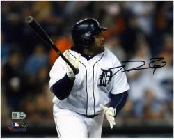 "Prince Fielder Detroit Tigers Autographed 8"" x 10"" Hitting Horizontal Photograph"