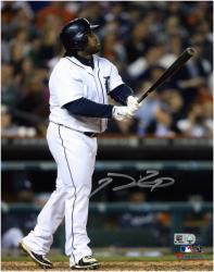 """Prince Fielder Detroit Tigers Autographed 8"""" x 10"""" Hitting White Uniform Photograph"""
