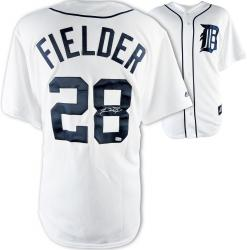 Prince Fielder Detroit Tigers Autographed Majestic Replica Home White Jersey - Mounted Memories