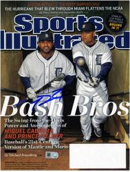 Prince Fielder Detroit Tigers Autographed Sports Illustrated with Miguel Cabrera