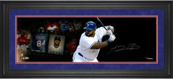 Autographed Prince Fielder Framed 10x30 Film Strip Photo
