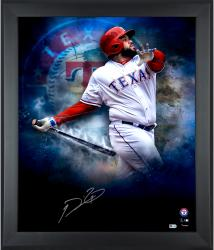 Framed Prince Fielder Signed 20x24 In Focus Photo
