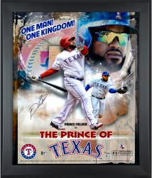 Framed Prince Fielder Autographed 20x24 Marquee Photo