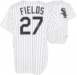 Josh Fields Chicago White Sox Autographed White Pinstripe Replica Jersey