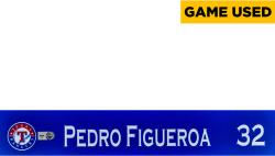 Pedro Figueroa Texas Rangers 2014 Opening Day Locker Nameplate - Mounted Memories  - Mounted Memories