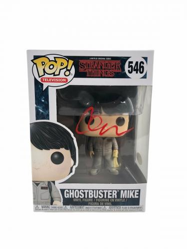 Finn Wolfhard Autograph Funko Pop Stranger Things Ghostbuster Mike JSA COA 2