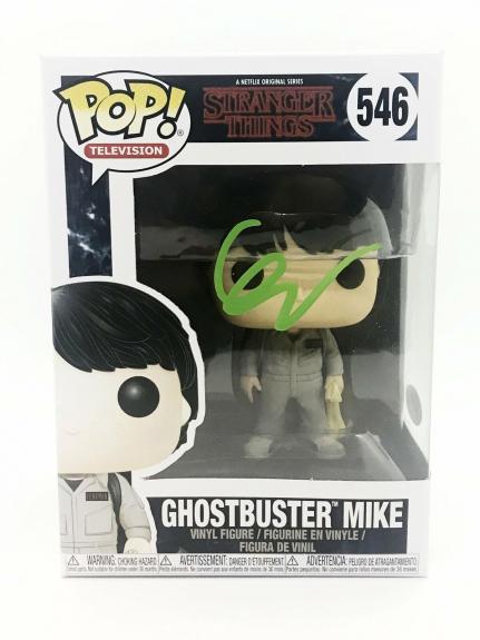 Finn Wolfhard Autograph Funko Pop Stranger Things Ghostbuster Mike Signed JSA CO