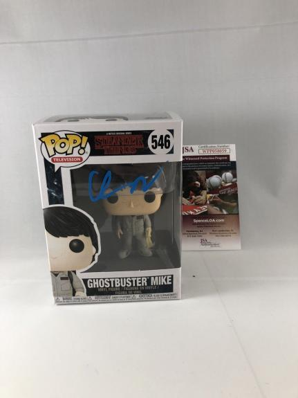 Finn Wolfhard Signed Stranger Things Ghostbuster Mike Funko Pop Jsa 3