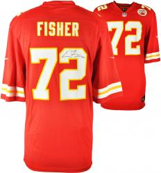 Eric Fisher Kansas City Chiefs Autographed Nike Limited Red Jersey - Mounted Memories