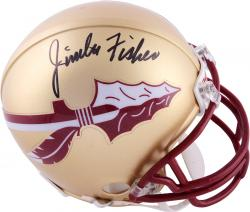 Jimbo Fisher Florida State Seminoles (FSU) Autographed Riddell Mini Helmet - Mounted Memories