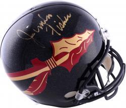 Jimbo Fisher Florida State Seminoles (FSU) Autographed Riddell Replica Black Helmet