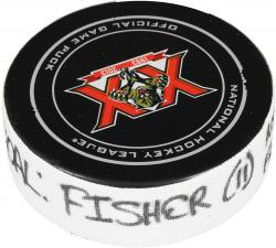 Mike Fisher Nashville Predators 1/4/14 Game-Used Goal Puck at Florida Panthers - Mounted Memories