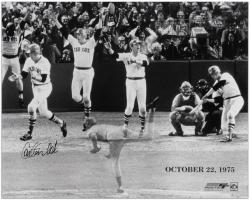 "Carlton Fisk Boston Red Sox Triple Exposure 1975 World Series Game 6 16"" x 20"" Multi Exposure Autographed Photograph"