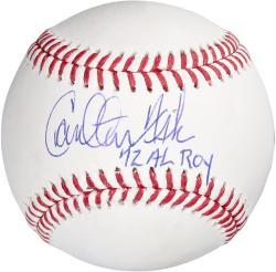 Carlton Fisk Boston Red Sox Autographed Baseball with 72 AL ROY Inscription