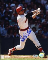 "Carlton Fisk Boston Red Sox Autographed 8"" x 10"" Swing Photograph"