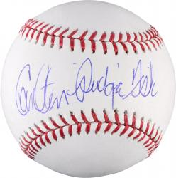 Carlton Fisk Boston Red Sox Autographed Baseball with Pudge Inscription
