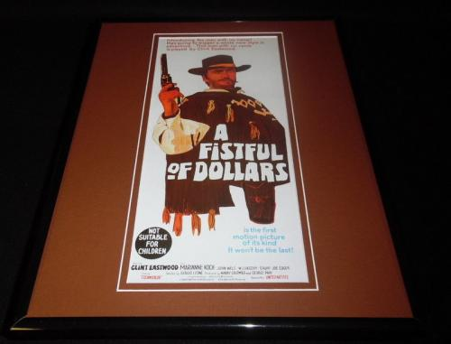 Fistful of Dollars Framed 11x14 Poster Display Clint Eastwood
