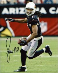"Larry Fitzgerald Arizona Cardinals Autographed 8"" x 10"" Ball in Left Hand Photograph"