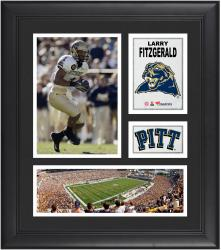 """Larry Fitzgerald Pittsburgh Panthers Framed 15"""" x 17"""" Collage"""