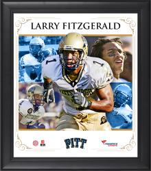 "Larry Fitzgerald Pittsburgh Panthers Framed 15"" x 17"" Core Composite Photograph"