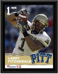 "Larry Fitzgerald Pittsburgh Panthers Sublimated 10.5"" x 13"" Plaque"