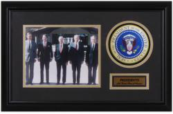 Five United States Presidents Framed 8x10 Photograph with Presidential Seal