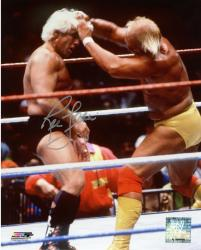 Ric Flair Autographed 8'' x 10'' Hair Grab Photograph - Mounted Memories