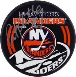 Pat Flatley New York Islanders Autographed Puck