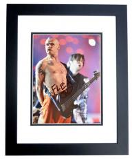 Flea Signed - Autographed Red Hot Chili Peppers Guitarist 8x10 inch Photo BLACK CUSTOM FRAME - Guaranteed to pass PSA or JSA