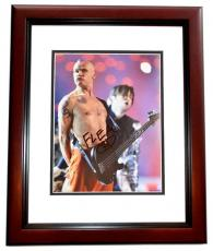 Flea Signed - Autographed Red Hot Chili Peppers Guitarist 8x10 inch Photo MAHOGANY CUSTOM FRAME - Guaranteed to pass PSA or JSA