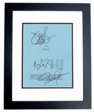 FLIGHT Autographed Script Cover by Denzel Washington, Tamara Tunie, and Nadine Velazquez BLACK CUSTOM FRAME