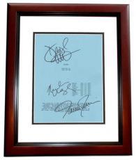 FLIGHT Autographed Script Cover by Denzel Washington, Tamara Tunie, and Nadine Velazquez MAHOGANY CUSTOM FRAME