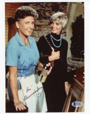 "Florence Henderson & Ann B Davis The Brady Bunch Autographed 8"" x 10"" Photograph - BAS"
