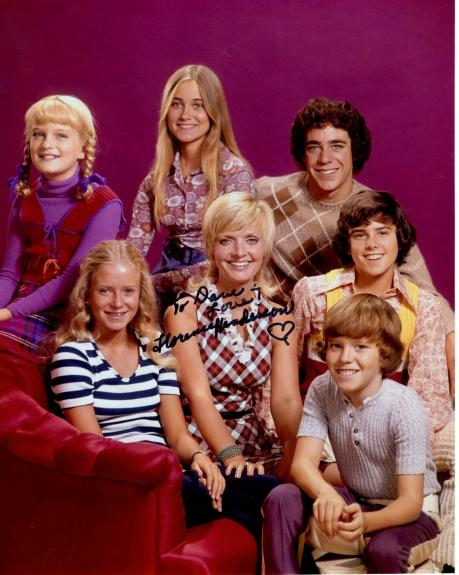 FLORENCE HENDERSON HAND SIGNED 8x10 COLOR PHOTO+COA      BRADY BUNCH     TO DAVE