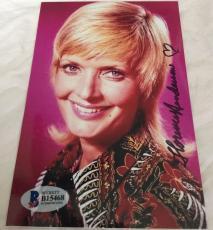 Florence Henderson Hand Signed The Brady Bunch Mom 4x6 Photo BAS COA A