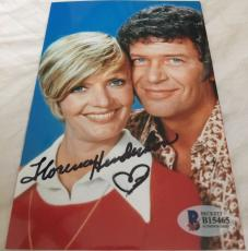 Florence Henderson Hand Signed The Brady Bunch Mom 4x6 Photo BAS COA C