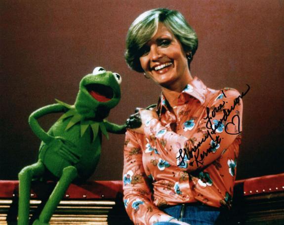 Florence Henderson Sesame Street Kermit Brady Bunch Signed Photo AFTAL UACC RD