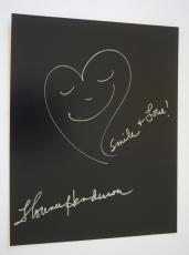 Florence Henderson Signed Autograph 11x14 Hand Drawn Sketch THE BRADY BUNCH VD