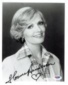 Florence Henderson Signed Brady Bunch Autographed 8x10 B/W Photo PSA/DNA #Z80587